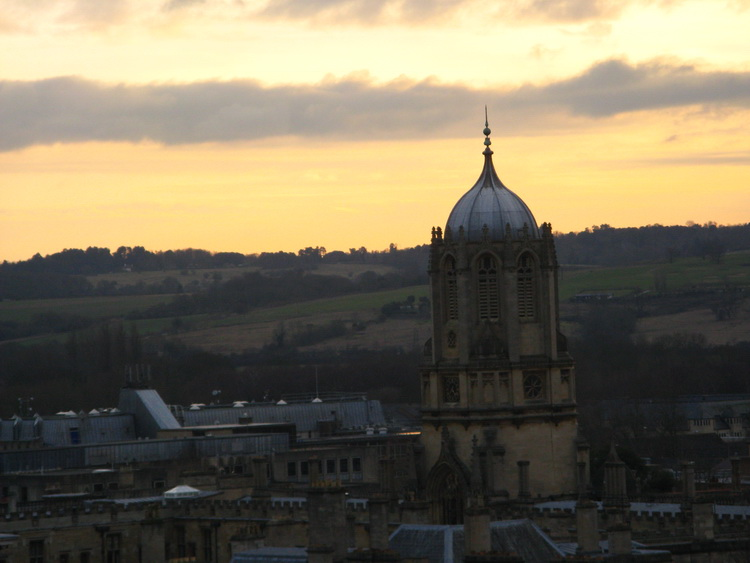 Naplemente Oxford felett - A Tom Tower